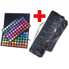 Paleta očních stínů 120 barev + 32ks štětců