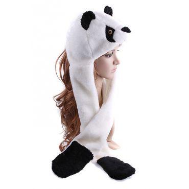 Plyšová zvířecí čepice animal - Panda