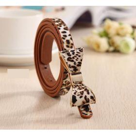 Dámský pásek tenký leopard