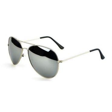 Sluneční brýle pilotky stříbrné zrcadlové
