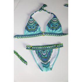Modré plavky s ornamenty