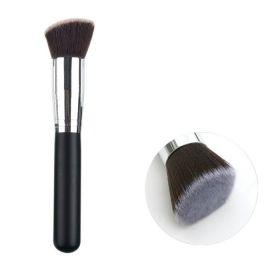 Shimia kabuki kosmetický štětec - uhlový  / flat