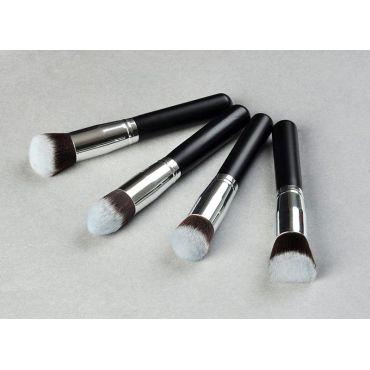 Angled Flat uhlový Kabuki kosmetický štětec