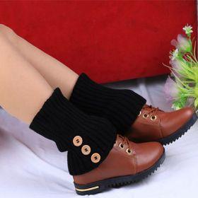Pletené návleky na nohy černé 40 cm