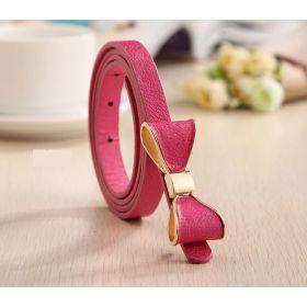 Dámský pásek s mašlí růžový