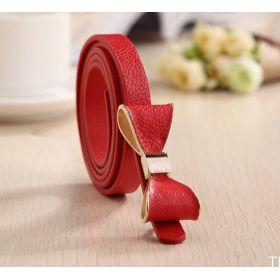 Dámský pásek s mašlí červený