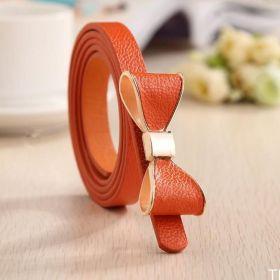 Dámský pásek s mašlí oranžový