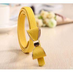 Dámský pásek s mašlí žlutý