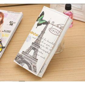Dámská peněženka s motivy měst Paris motýl
