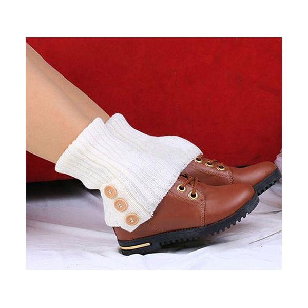 Pletené návleky na nohy bílé 40 cm