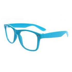 Nedioptrické brýle wayfarer světlo modré
