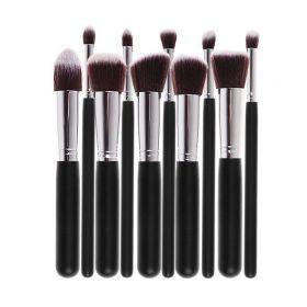 10 Ks Kabuki kosmetických štětců černé
