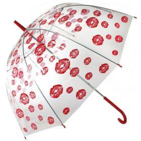 Dámský průhledný deštník Rty