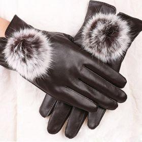 Dámské elegantní rukavice - hnědé