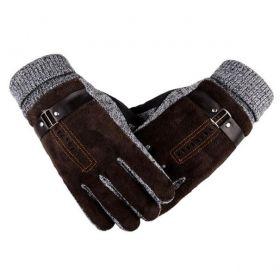 Pánské zateplené rukavice Bobby hnědé