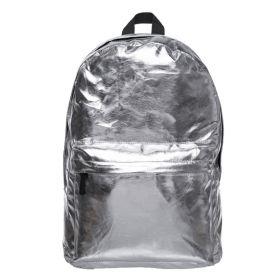 Who Cares stříbrný metalický batoh