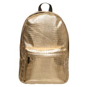 Who Cares zlatý metalický batoh