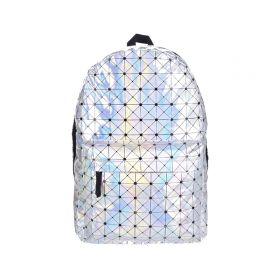 Who Cares stříbrný metalický batoh Cube