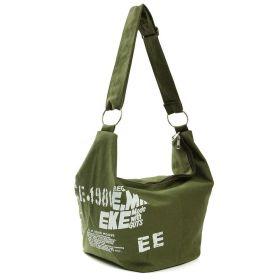 E.M.K dámská plátěná taška zelená
