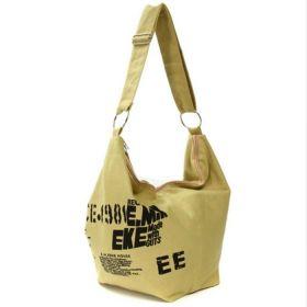 E.M.K dámská plátěná taška hnědá