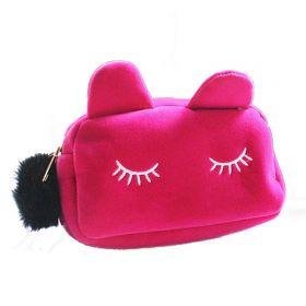 Kosmetická taštička Kočičí oči růžová