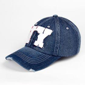 ANG-E Džínová kšiltovka nápis NY tmavě modrá