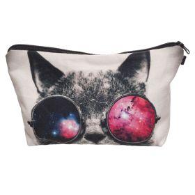 Kosmetická taštička Kočka s brýlemi