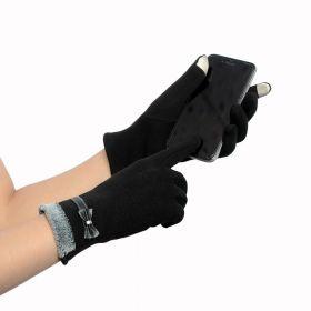Dámské elegantní rukavice černé