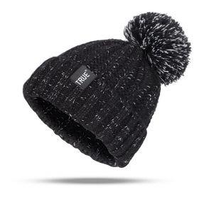 True dámská pletená čepice černá