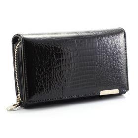 Jennifer dámská Lakovaná peněženka černá