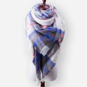 Blanket Dámský šátek kostka modrá 210 cm