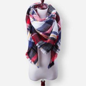 Blanket Dámský šátek kostka červená 210 cm