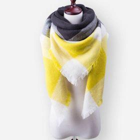 Blanket Dámský šátek Černožlutý 210 cm
