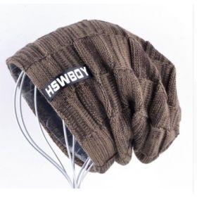 HSWBoy pánská zimní čepice Hnědá