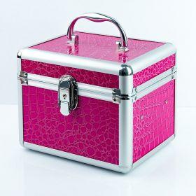 Kosmetický kufřík malý krokodýl růžový