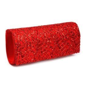 Psaníčko na ples Daša červená s flitry