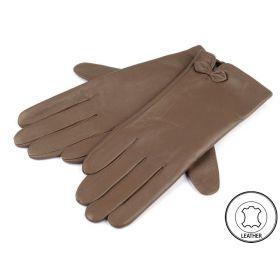 Dámské kožené rukavice hnědé L