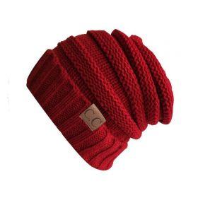 CC beanie pletená čepice Smurf Dark red
