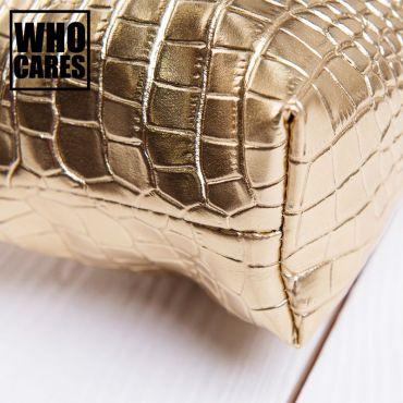 Who Cares Kosmetická taštička metalická zlatá