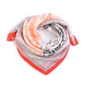 Dámský šátek s ornamenty Paisley 70 cm Orange