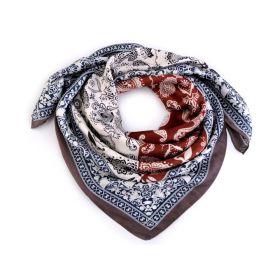 Dámský šátek s ornamenty Paisley 70 cm Hnědý