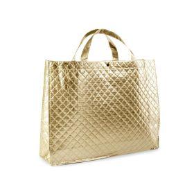 Zlatá lesklá metalická taška 46 x 35 cm