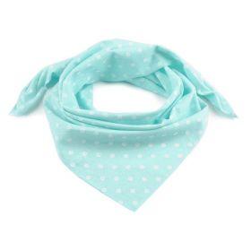 Dámský Bavlněný šátek s puntíky 65 cm Tyrkys