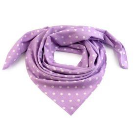 Dámský Bavlněný šátek s puntíky 65 cm Violet