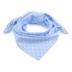 Dámský Bavlněný šátek s puntíky 65 cm Modrý
