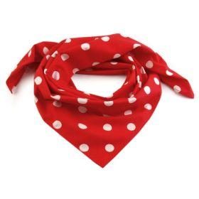 Dámský Bavlněný šátek s puntíky 65 cm Červený