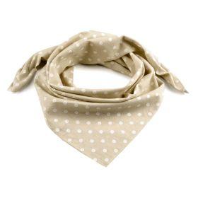 Dámský Bavlněný šátek s puntíky 65 cm Hnědý
