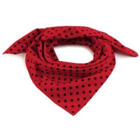 Dámský Bavlněný šátek s puntíky 65 cm Červený black