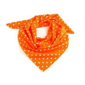 Dámský Bavlněný šátek s puntíky 65 cm Oranžový