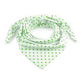 Dámský Bavlněný šátek s puntíky 65 cm Bílý Green